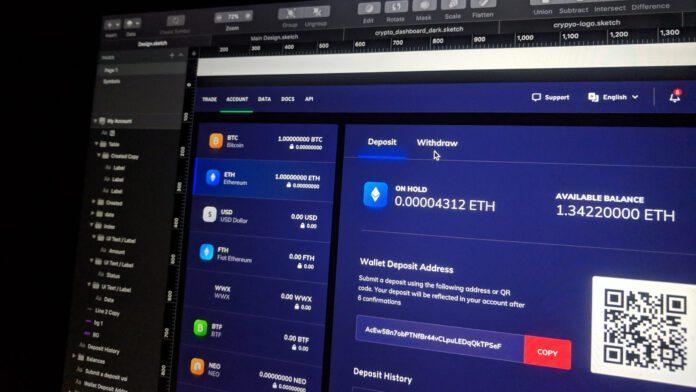 Bitcoins kaufen: Bildschirm mit Kursen verschiedener Kryptowährungen